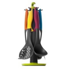 Набор кухонных принадлежностей, 6 предметов на подставке, нейлон, (мах 210 С) IBILI Colorful арт. 740500
