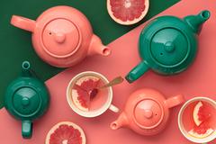 Чайник заварочный Bright Colours 450 мл изумрудный P&K P_0056.779