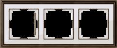 Рамка на 3 поста (бронза/белый) WL17-Frame-03 Werkel