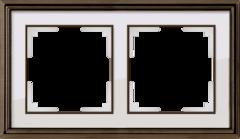 Рамка на 2 поста (бронза/белый) WL17-Frame-02 Werkel