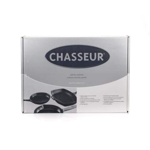 Сковорода чугунная гриль 25 см с эмалированным покрытием, круглая, CHASSEUR арт. 316001