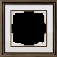 Рамка на 1 пост (бронза/белый) WL17-Frame-01 Werkel