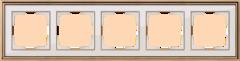 Рамка на 5 постов (золото/белый) WL17-Frame-05 Werkel