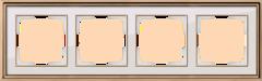 Рамка на 4 поста (золото/белый) WL17-Frame-04 Werkel