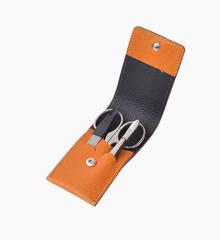 Маникюрный набор Dovo LE, 3 предмета, кожаный футляр (вол), цвет коричневый 1074061