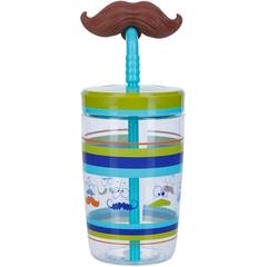 Детский стакан для воды с трубочкой Contigo Funny Straw (0.47 литра), голубой contigo0521