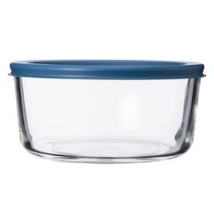 Контейнер для еды Smart Solutions стеклянный 944 мл темно-синий JV944RD