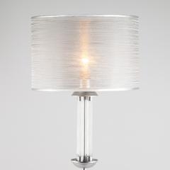 Торшер с серебристым абажуром Eurosvet Licata 01074/1 серебро