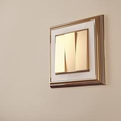 Рамка на 1 пост (золото/белый) WL17-Frame-01 Werkel