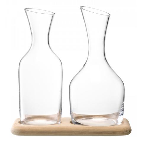 Набор из кувшинов для вина и воды на деревянной подставке LSA G1166-00-991