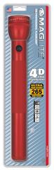 Фонарь MAGLITE, 4D, красный, 37,5 см, в блистере S4D036E
