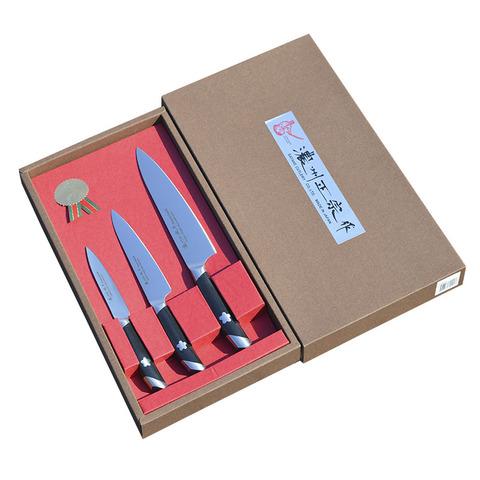 Набор из 3 кухонных ножей SATAKE Sakura HG8082