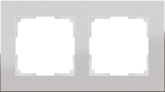 Рамка на 2 поста (алюминий) WL11-Frame-02 Werkel