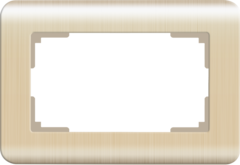 Рамка для двойной розетки (шампань) WL12-Frame-01-DBL Werkel