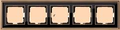 Рамка на 5 постов (золото/черный) WL17-Frame-05 Werkel