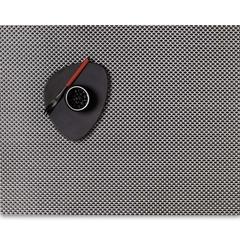 Салфетка подстановочная, жаккардовое плетение, винил, (36х48) Titanium (100110-026) CHILEWICH Basketweave арт. 0025-BASK-TITA