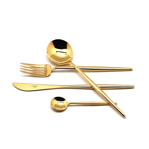 Набор столовых приборов (24 предмета / 6 персон) Cutipol MOON GOLD 9231