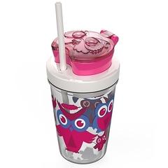 Детский стакан для воды с трубочкой Contigo Snack Tumbler (0.35 литра), розовый contigo0626