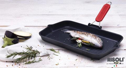 Литая сковорода-гриль 26х26см Risoli Soft Safety Cooking 0090AX3/26T0