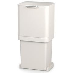 Контейнер для мусора с двумя баками Totem Pop 60 л белый Joseph Joseph 30091