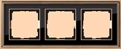 Рамка на 3 поста (золото/черный) WL17-Frame-03 Werkel