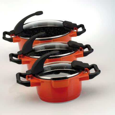 Кастрюля с крышкой 16см 1,5л BergHOFF Virgo Orange 2304900