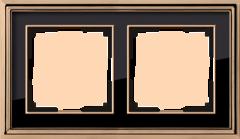 Рамка на 2 поста (золото/черный) WL17-Frame-02 Werkel
