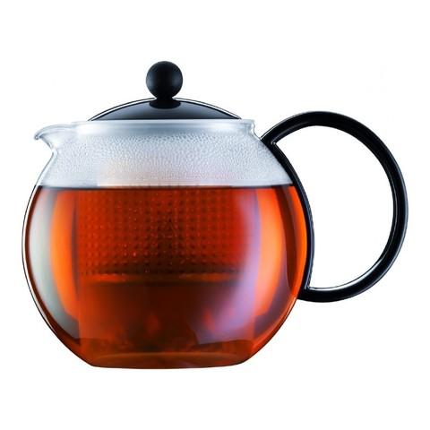 Чайник заварочный с прессом Bodum Assam 1 л. черный