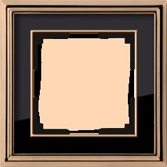 Рамка на 1 пост (золото/черный) WL17-Frame-01 Werkel