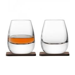 Стакан Islay Whisky с деревянной подставкой 2 шт. LSA G1213-09-301