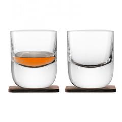 Стакан Renfrew Whisky с деревянной подставкой  2 шт. LSA G1211-09-301