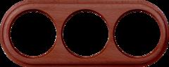 Рамка на 3 поста (итальянский орех) WL15-frame-03 Werkel