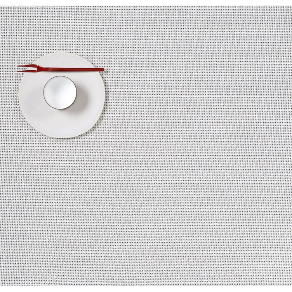 Салфетка подстановочная, жаккардовое плетение, винил, (36х48) White (100132-020) CHILEWICH Mini Basketweave арт. 0025-MNBK-WHIT