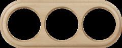 Рамка на 3 поста (светлый бук) WL15-frame-03 Werkel