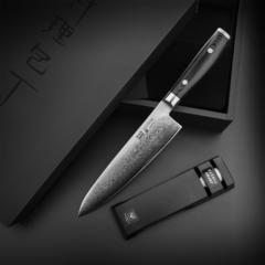 Набор из кухонного Шеф ножа 20 см (69 слоев) YAXELL RAN и точилки арт. YA36000-002