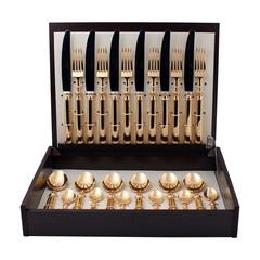 Набор столовых приборов (24 предмета / 6 персон) Cutipol PICCADILLY GOLD 9141