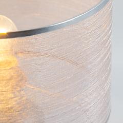 Настольная лампа с абажуром Eurosvet Licata 01073/1 серебро