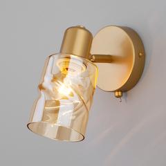 Настенный светильник с выключателем Eurosvet Ansa 20120/1 перламутровое золото