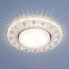Встраиваемый точечный светильник с LED подсветкой 3026 GX53 CL прозрачный Elektrostandard