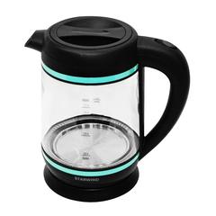 Чайник электрический Starwind (1,7 литра) 2200 Вт, LED подсветка, прозрачный/бирюзовый SKG7740 (NEON)
