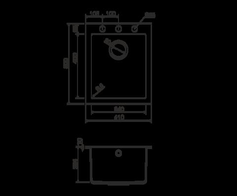Кухонная мойка из искусственного гранита (Tetogranit) OMOIKIRI Bosen 41-WH (4993144)