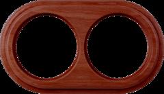 Рамка на 2 поста (итальянский орех) WL15-frame-02 Werkel
