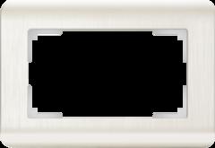 Рамка для двойной розетки (перламутровый) WL12-Frame-01-DBL Werkel