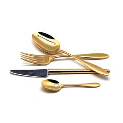 Набор столовых приборов (24 предмета / 6 персон) Cutipol VAN DER ROHE GOLD 9211