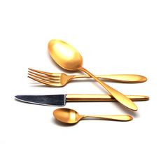 Набор столовых приборов (24 предмета / 6 персон) Cutipol VAN DER ROHE GOLD 9212