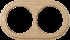 Рамка на 2 поста (светлый бук) WL15-frame-02 Werkel