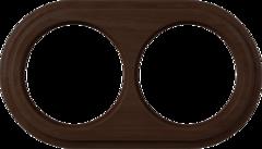 Рамка на 2 поста (венге) WL15-frame-02 Werkel