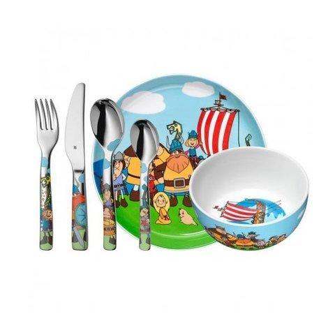 Набор детской посуды (6 предметов / 1 персона) WMF WICKIE 3201002561