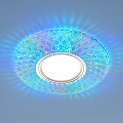 Встраиваемый точечный светильник с LED подсветкой 2220 MR16 CL прозрачный подсветка мульти Elektrostandard