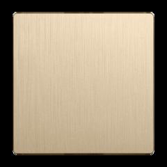 Клавиша для выключателя перекрестного (шампань рифленый) WL10-SW-1G-C-CP Werkel